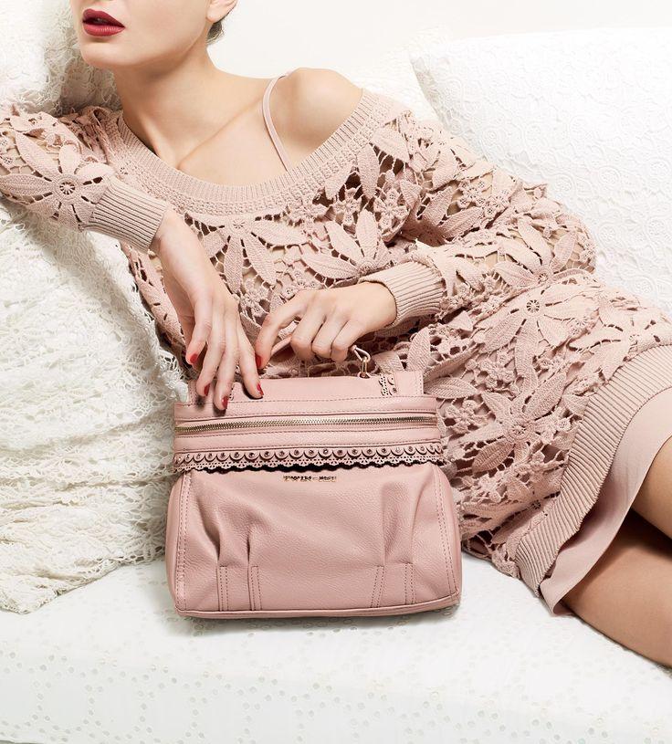 TWIN-SET Simona Barbieri: Macramé dress and small Cécile bag