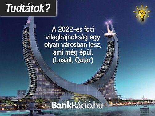 A 2022-es foci világbajnokság egy olyan városban lesz, ami még épül. (Lusail, Qatar) Forrás: http://en.wikipedia.org/wiki/Lusail