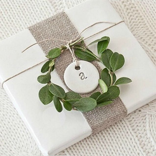 Christmas label. Can be used for gift wrap or place name at the table.