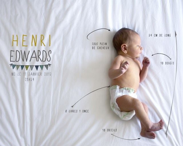 baby anouncement DIY