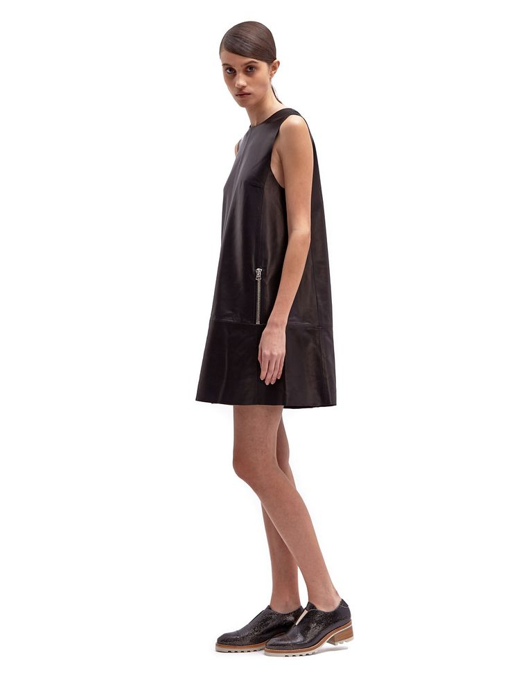 Acne Studios Chow Leather Dress Visit New Online Best Prices Cheap Online Buy Cheap Latest Collections Best Place To Buy Amazon Footaction kZXuZR