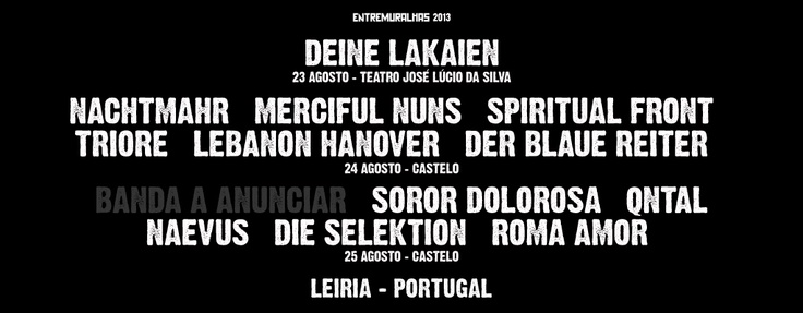 ENTREMURALHAS 2013  - Cartaz Provisório