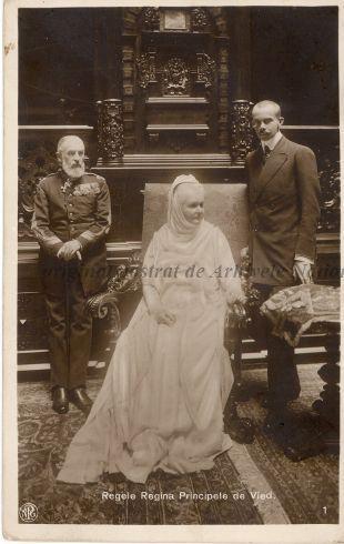 Queen Elisabeth. King Carol I. Prince of Wied