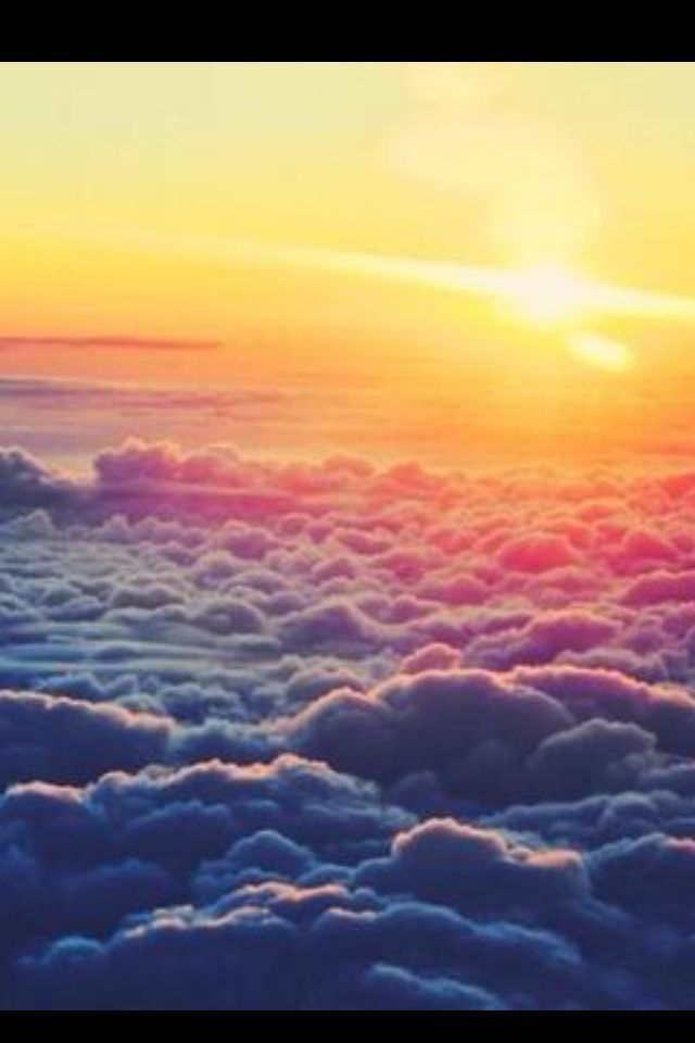 Sunset Above The Clouds In 2019 Iphone Wallpaper Sky