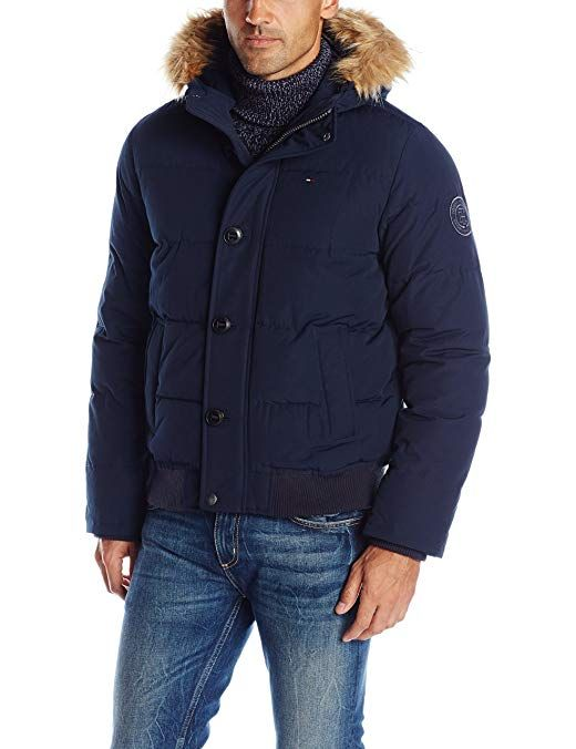 124ab00a1 Tommy Hilfiger Men's Arctic Cloth Quilted Snorkel Bomber Jacket ...
