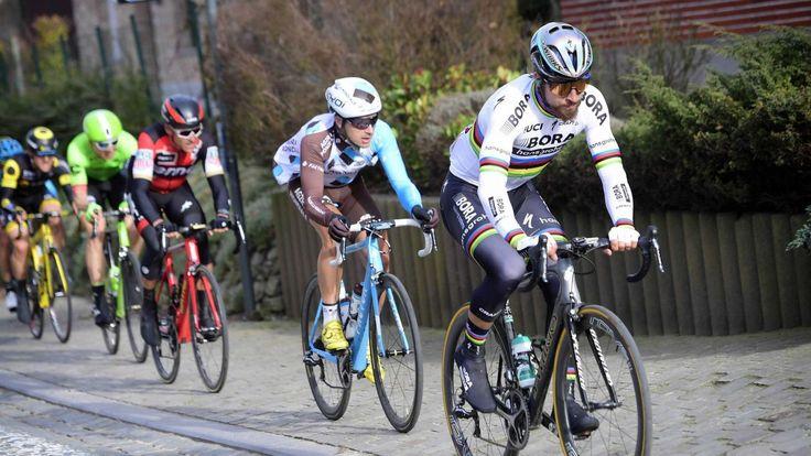 Peter Sagan (Bora-Hansgrohe)  Peter Sagan (Bora-Hansgrohe) a réglé un petit groupe d'échappés pour s'imposer lors de la 69e édition de Kuurne - Bruxelles - Kuurne, dimanche. C'est la première victoire de la saison du Slovaque après sa deuxième place samedi...