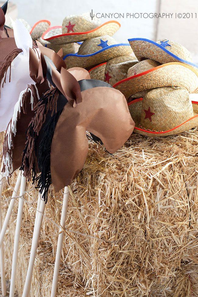 Paper Stick Horses