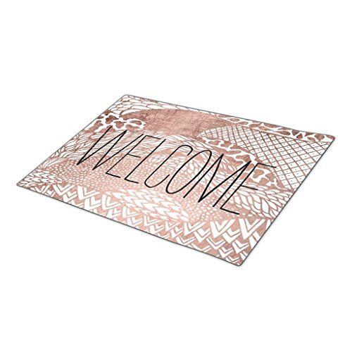 HomeTaste Christmas Door Mat Modern abstract geometric rose gold pattern Large Door Mats * Want additional info? Click on the image.