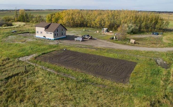 The Greenville RTM on site at Virden, Manitoba.