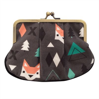 Foxes Pleat Coin Purse | Pony Lane