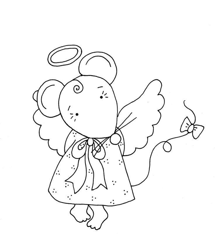 Free Dearie Dolls Digi Stamps: Mousie Angel