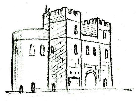 Draw a Medieval Castle | How to draw, To draw and Medieval