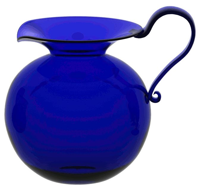 Large Round Jug [BB015] - £77.00 : The Original Bristol Blue Glass Ltd
