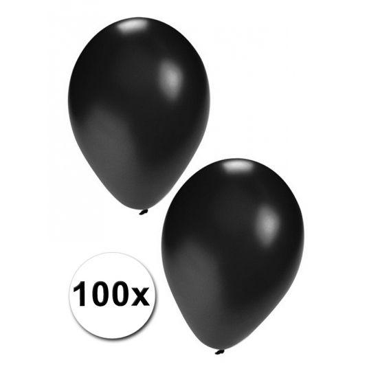 100 grote zwarte ballonnen. Formaat van de zwarte ballonnen: ongeveer 27 cm. Deze zwarte party ballonnen zijn geschikt voor helium of lucht. Versier uw party met zwarte feest ballonnen. Koop uw zwarte ballonnen in kleinere of grotere aantallen.