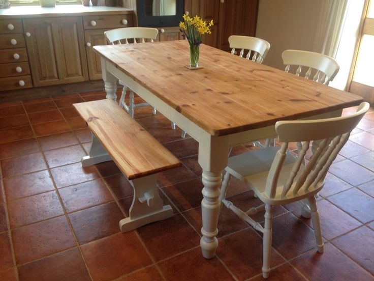 Customize Your Dining Set Shabby Chic Tables With Chairs Examples ...