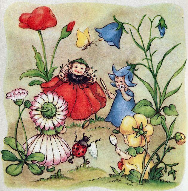 1293 best vintage fiori bimbi e fate images on Pinterest Elsa