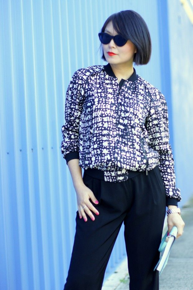 New blog post from Cecylia.com looking gorgeous in our Silk Bomber!  We love her styling!