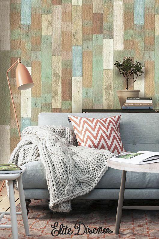 En esta ocasión hemos seleccionado un alegre y original entablillado de nuestra serie Luxury & Wood de #Infeel (Ref: GLW 478). Un patrón espectacular que combina diferentes tonalidades con un aspecto desgastado, ideal para hacer que nuestras estancias cobren vida al instante.  #EliteDiseños