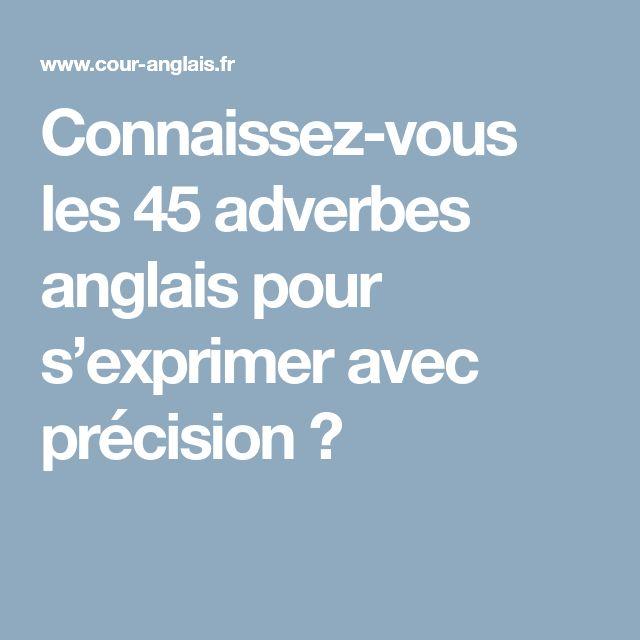 Connaissez-vous les 45 adverbes anglais pour s'exprimer avec précision ?