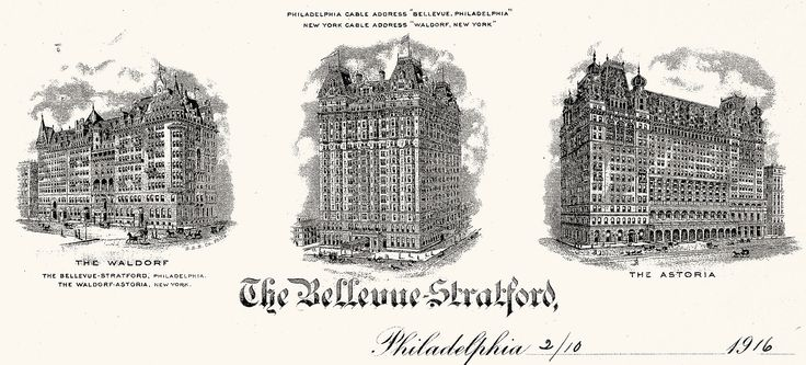 Bellevue-Stratford Hotel letterhead 1916 - The Bellevue-Stratford Hotel - Wikipedia, the free encyclopedia