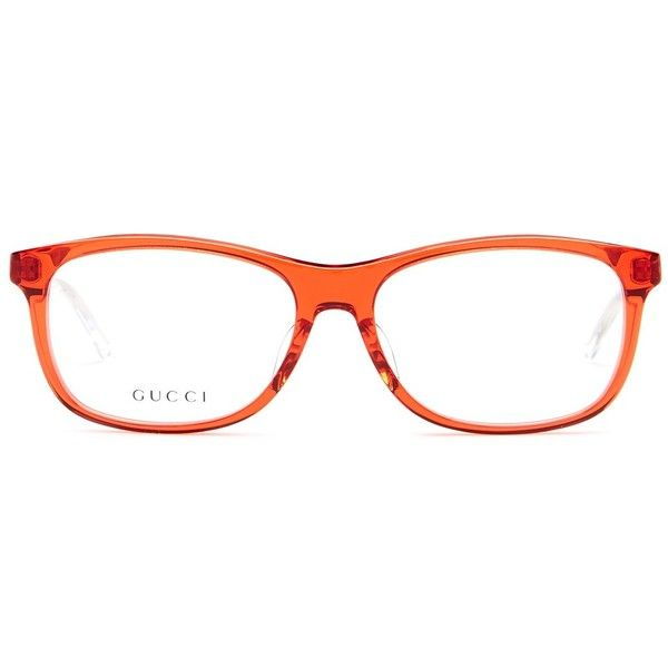 GUCCI Women's Rectangle Optical Frames ($100) ❤ liked on Polyvore featuring accessories, eyewear, eyeglasses, red cryst, gucci eye glasses, rectangle eyeglasses, lens glasses, clear eyeglasses and gucci eyeglasses