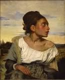 Orphan Girl at the Cemetery, Eugène Delacroix, 1824, Louvre, colore ad olio
