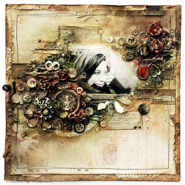 Journey - Tim Holtz & Ranger by finnabair, via Flickr