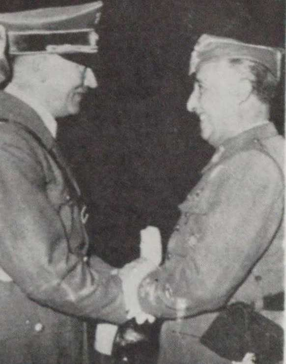 Hitler and Franco-November 18, 1936 Germany and Italy recognize Franco's government  Germany and Italy recognize the government of General Franco as the legitimate government of Spain.