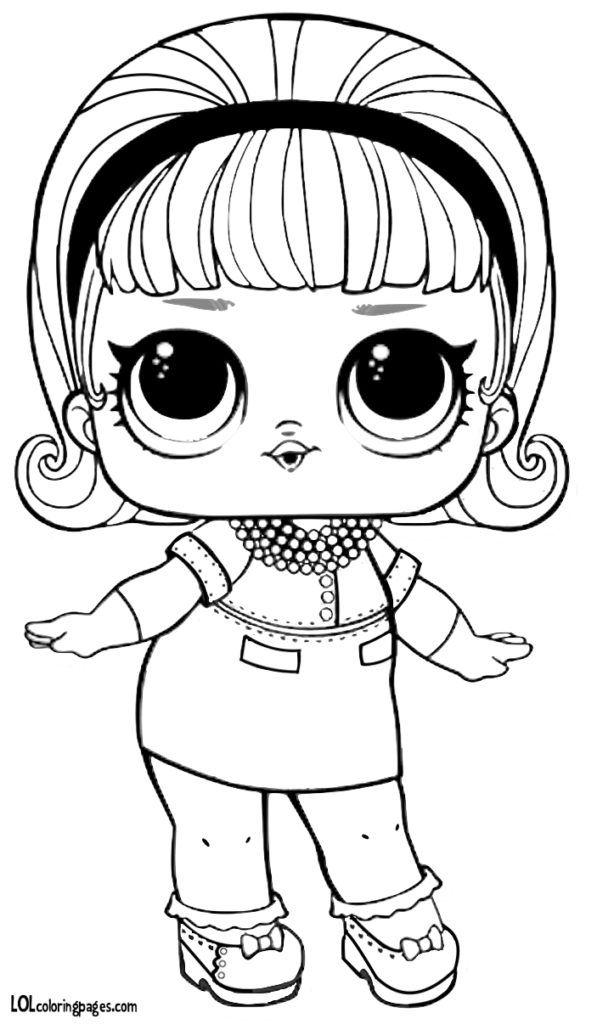 Скачать раскраску куклы ЛОЛ LOL Madame Queen. (с ...