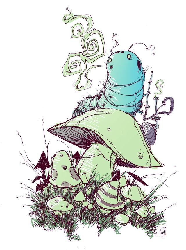 Caterpillar by *skottieyoung  Cartoons & Comics / Traditional Media / Comics / Mixed Media©2011-2012 *skottieyoung