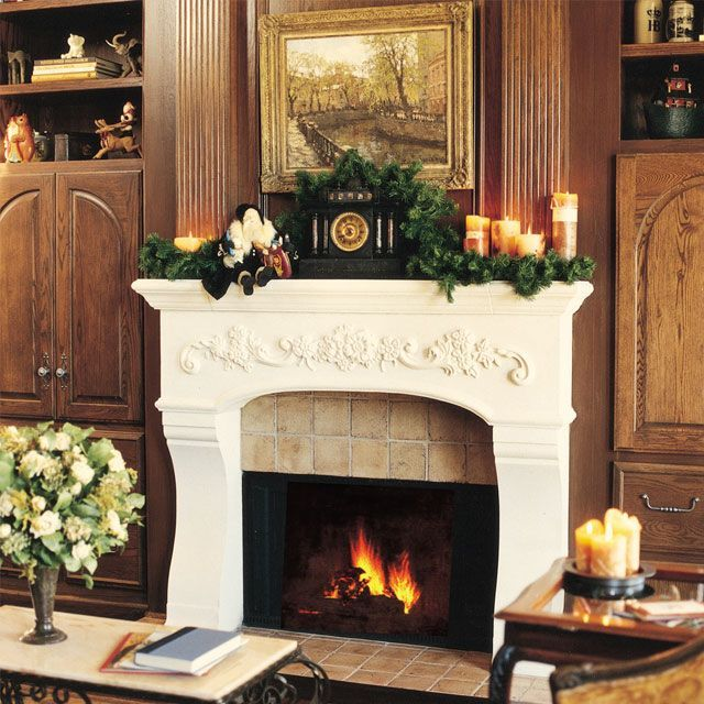French country mantle and Fireplace mantel decorations