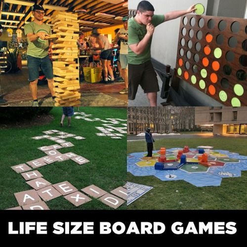 Life Size Board Games - jenga, connect four, catan, scrabble - Youth Downloads