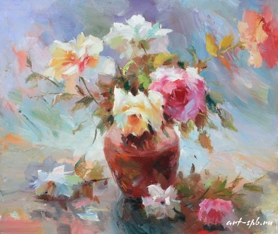 Розы в живописи (85 шт. фото). Обсуждение на LiveInternet - Российский Сервис Онлайн-Дневников