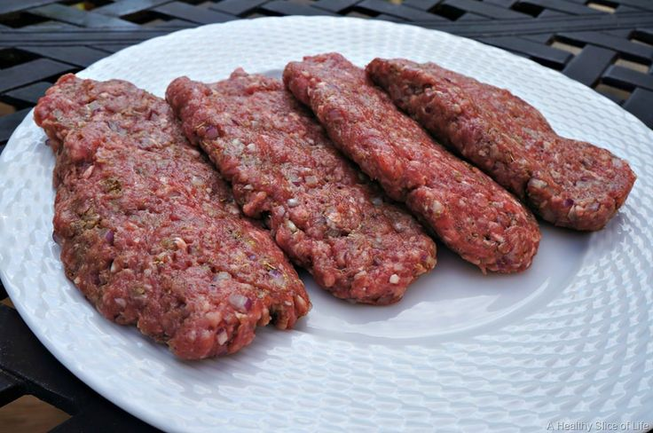 gyro burgers- 4 patties