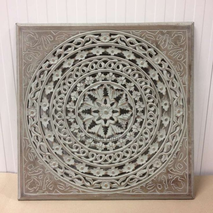 Houten wandpaneel Palma burned grey 60 x 60 cm