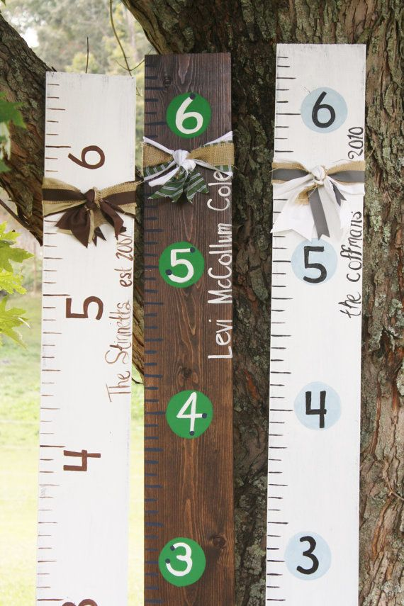 Growth Chart Rulers by LeapsAndBoundsofLove on Etsy, $45.00