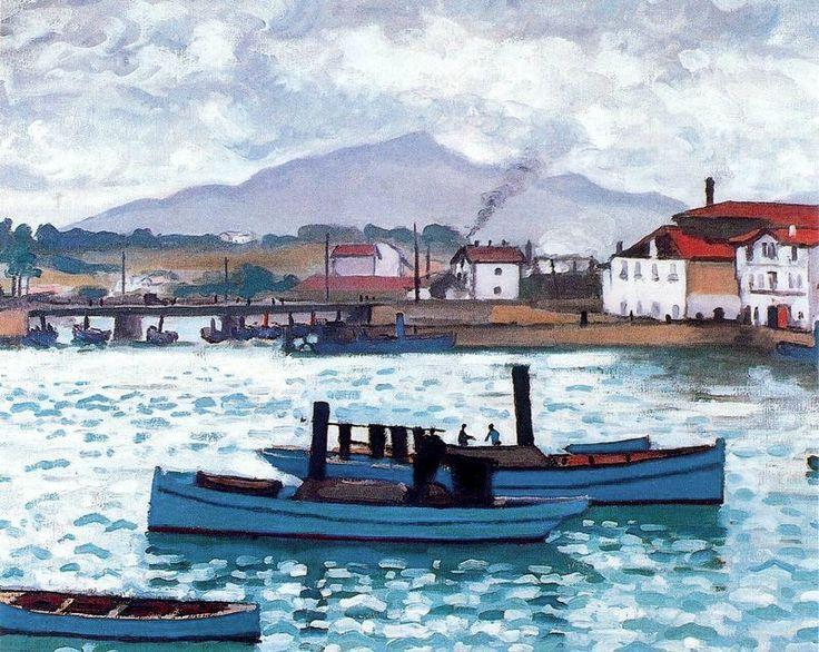 Albert Marquet - Port de San Juan de Luz, bateaux bleus