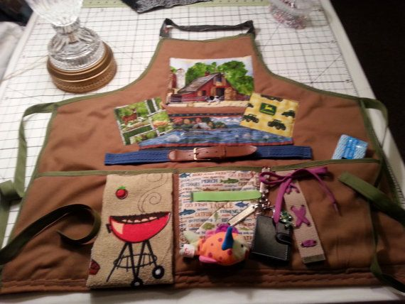 Quilted Man's Fidget Apron by NansSewingCorners on Etsy, $40.00