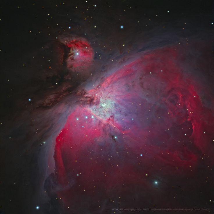 En el corazón de la Nebulosa de Orión se encuentra el Cúmulo del Trapecio. Está formado por cuatro estrellas masivas que están separadas por apenas 1,5 años-luz. Para ponerlo en perspectiva, Próxima Centauri, la estrella más cercana al Sol, se encuentra a 4,23 años-luz. Es la imagen del día de la NASA. #astronomia #ciencia