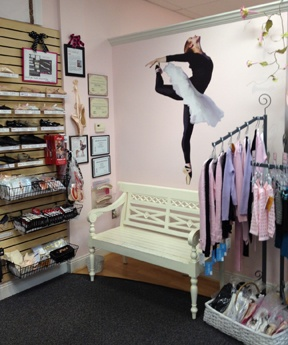 The pointe shoe fitting area at Pointe Dance Boutique in Midlothian, VA. Read all about this store in the Retailer Spotlight section of DRN's February 2012 issue.