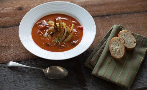 Epicure's Caramelized Fennel, Onion & Tomato Soup