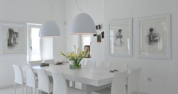 Dining table of Moonlight Villa in Paros Greece. http://instylevillas.net/property/moonlight-villa-paros/