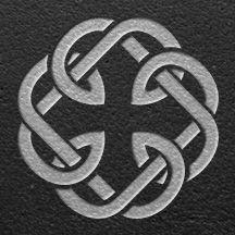 keltische Symbol für Vater und Tochter. Linkes Handgelenk