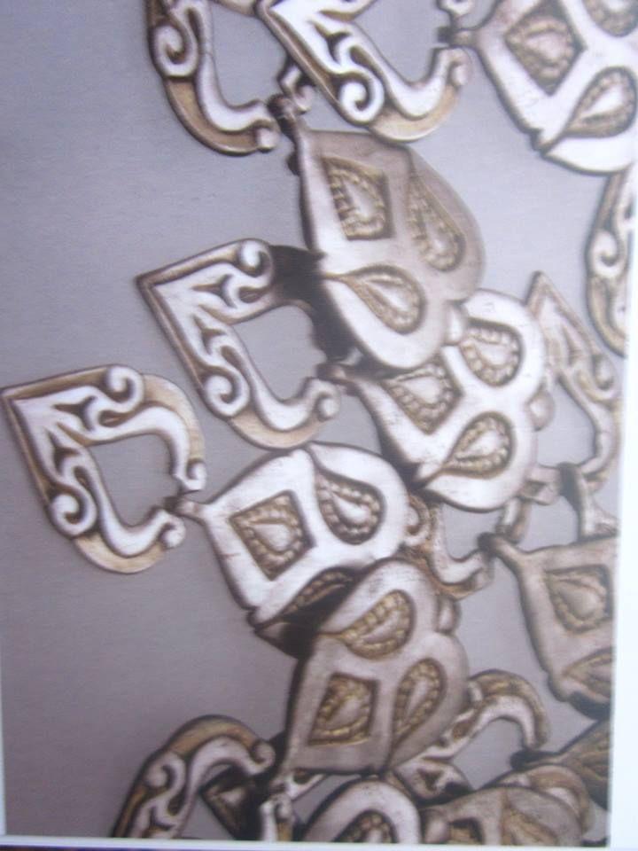 female caftan decorated gilt silver from Tokaj
