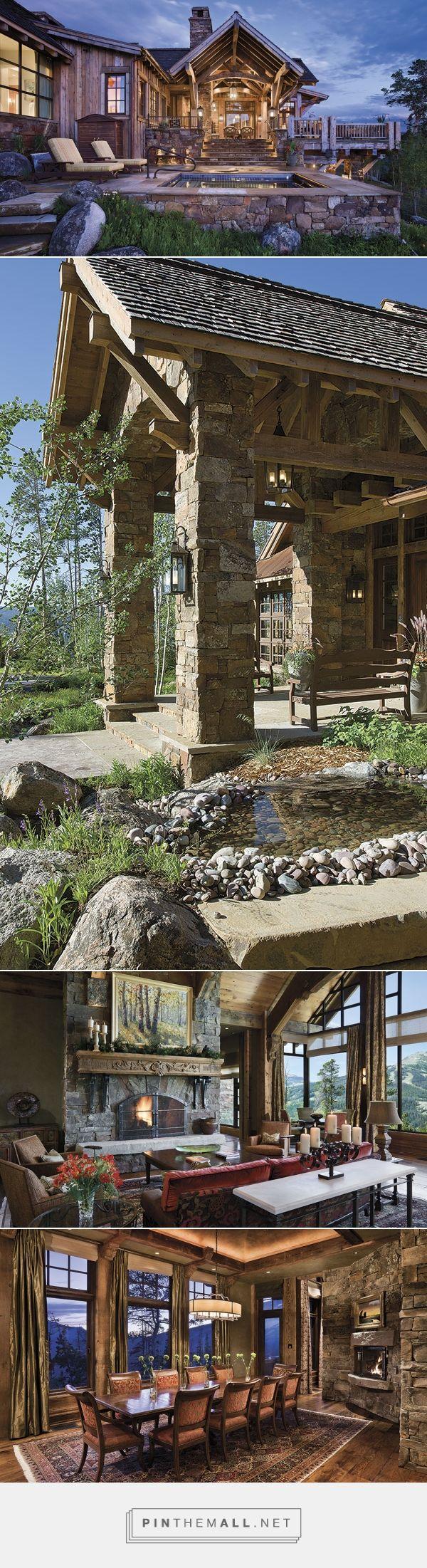 Beautiful mountain lodge in Yellowstone Club, Montana - Cowgirl Magazine