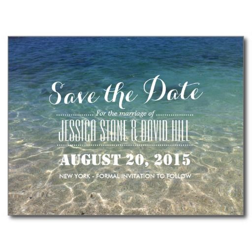 Schöne tropische Strand-Hochzeit Save the Date