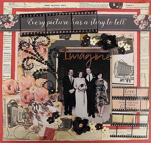 Every Picture Has a Story - single page from Paper Roses Scrapbooking ♥ ♥ ♥