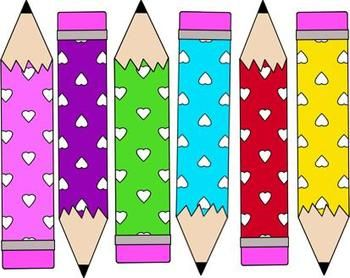 {{ Freebie}} Heart Pencils Clip Art.  Fun for Valentine's Day or any time you want to show a little love.   Graphic Arts, Valentine's Day   Grade Level(s):  Pre-K, Kindergarten, First, Second, Third, Fourth, Fifth, Sixth,   - Includes 6 colorful heart pencils.