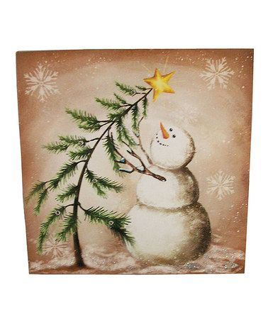 Loving this Snowman LED Wall Art on #zulily! #zulilyfinds