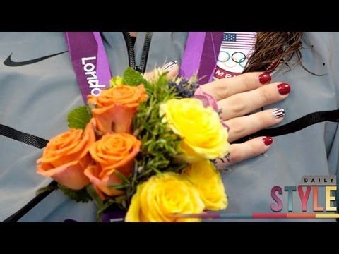 Missy Franklin & Allison Schmitt's Olympic Inspired Manicures! - http://www.nailtech6.com/missy-franklin-allison-schmitts-olympic-inspired-manicures/
